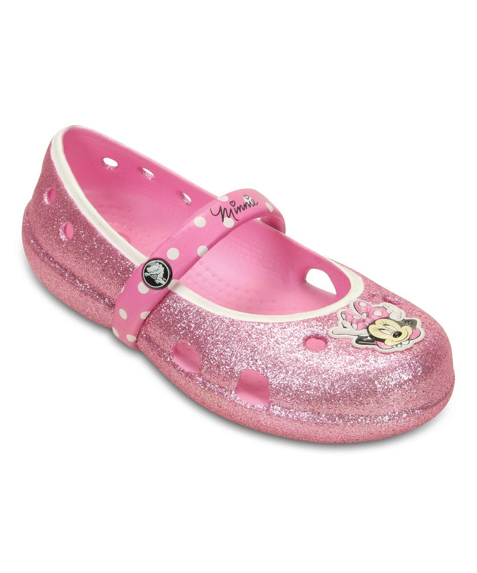 Crocs Minnie Carnation Glitter Keeley Flat by Crocs