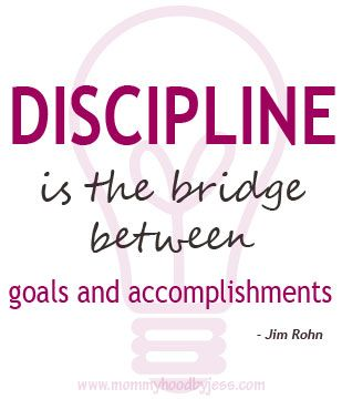 Discipline Is The Bridge Between Goals And Accomplishment Click To