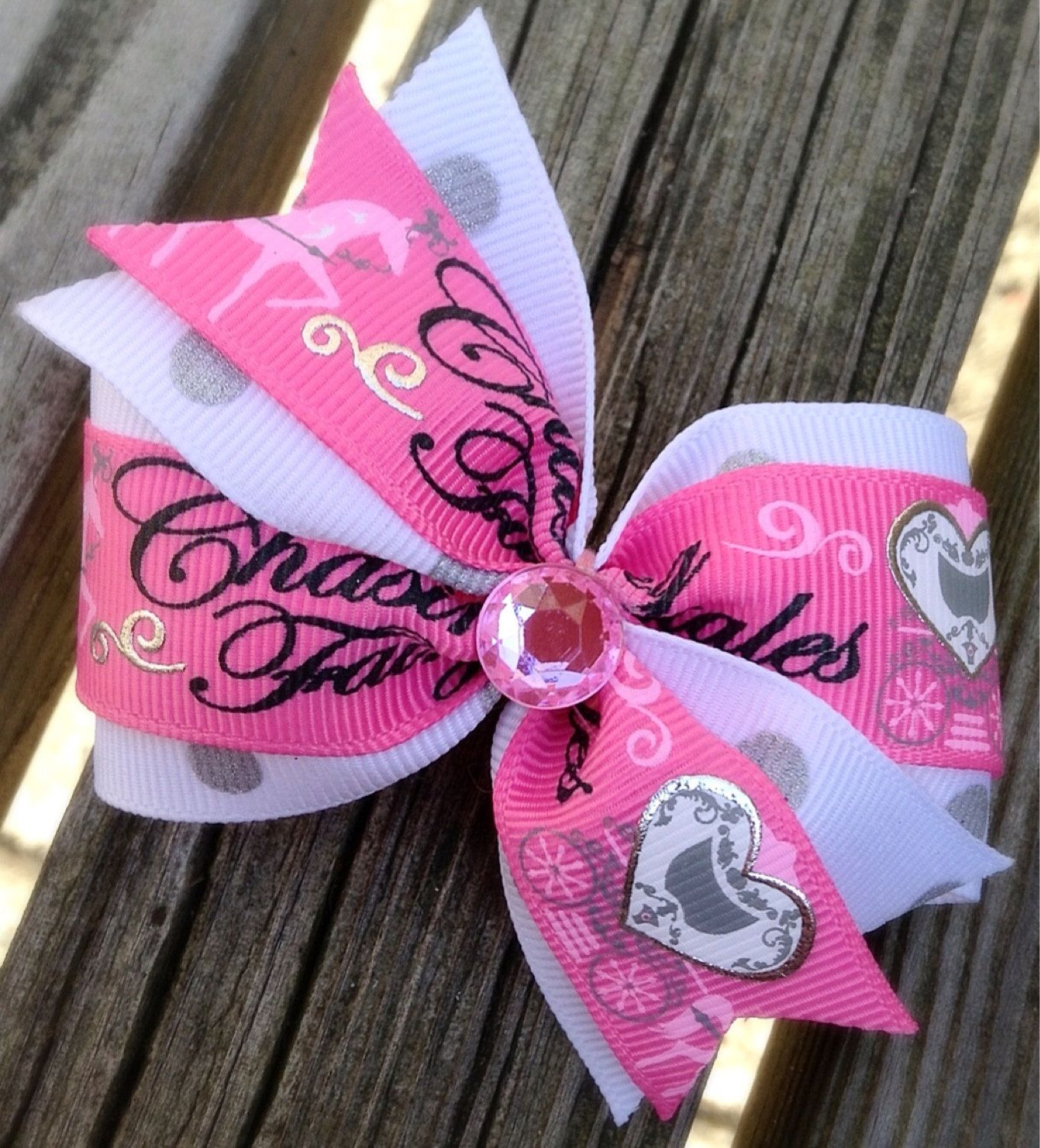 Chasing Fairytales Hair Bow, Dog collar bow, Princess, Carriage ,dog ...