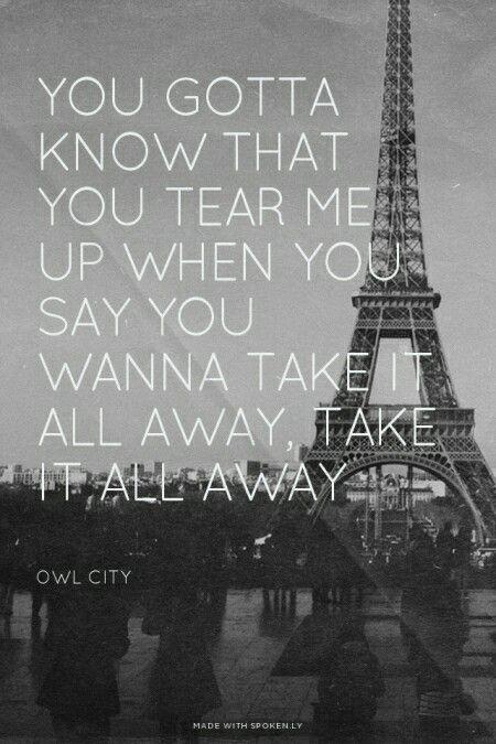 If you take it all away lyrics