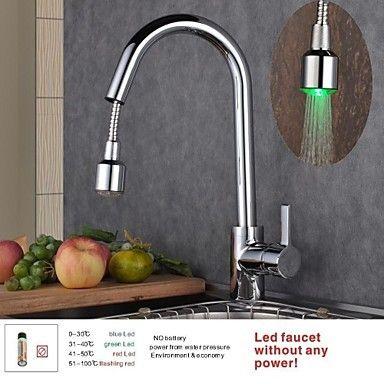 Montage mitigeur un trou with chrom robinet de cuisine kitchen robinet cuisine robinet - Robinet douche cuisine ...
