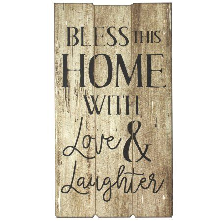 Download Bless This Home With Love & Laughter, 12 X 22 In Wall DÃ ...