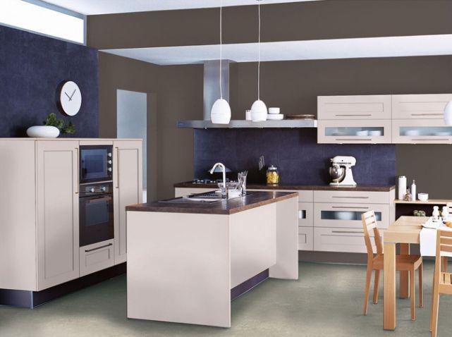 Cr dence bleue cuisinella cuisine pinterest for Couleur credence cuisine