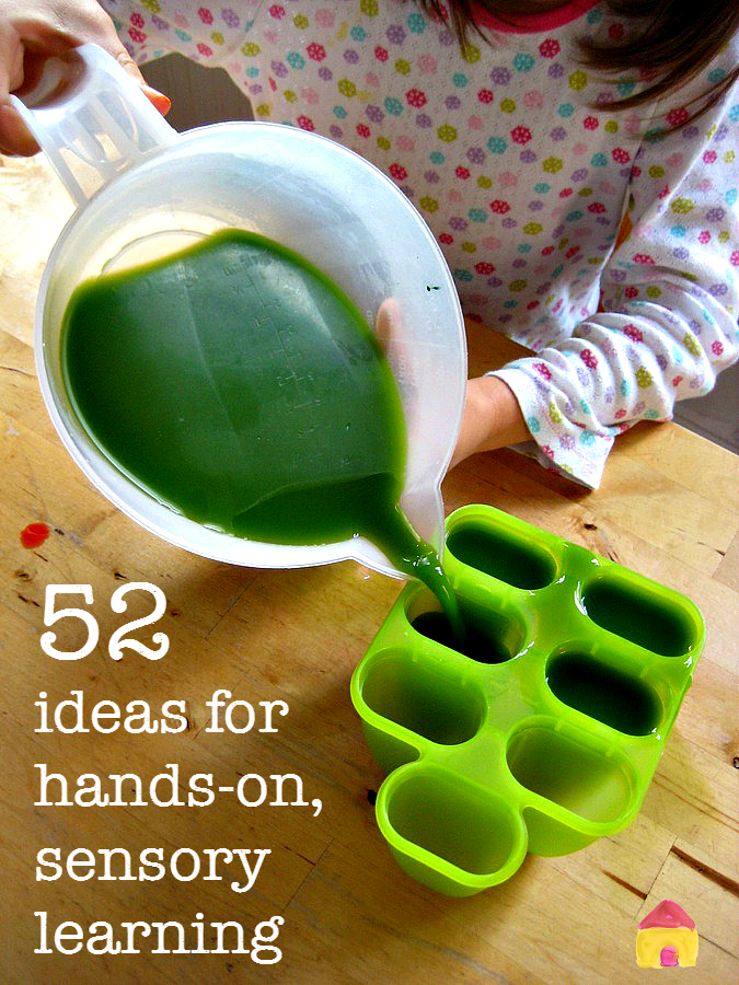 hands-on activities for sensory learning :: sensory play :: learning through play