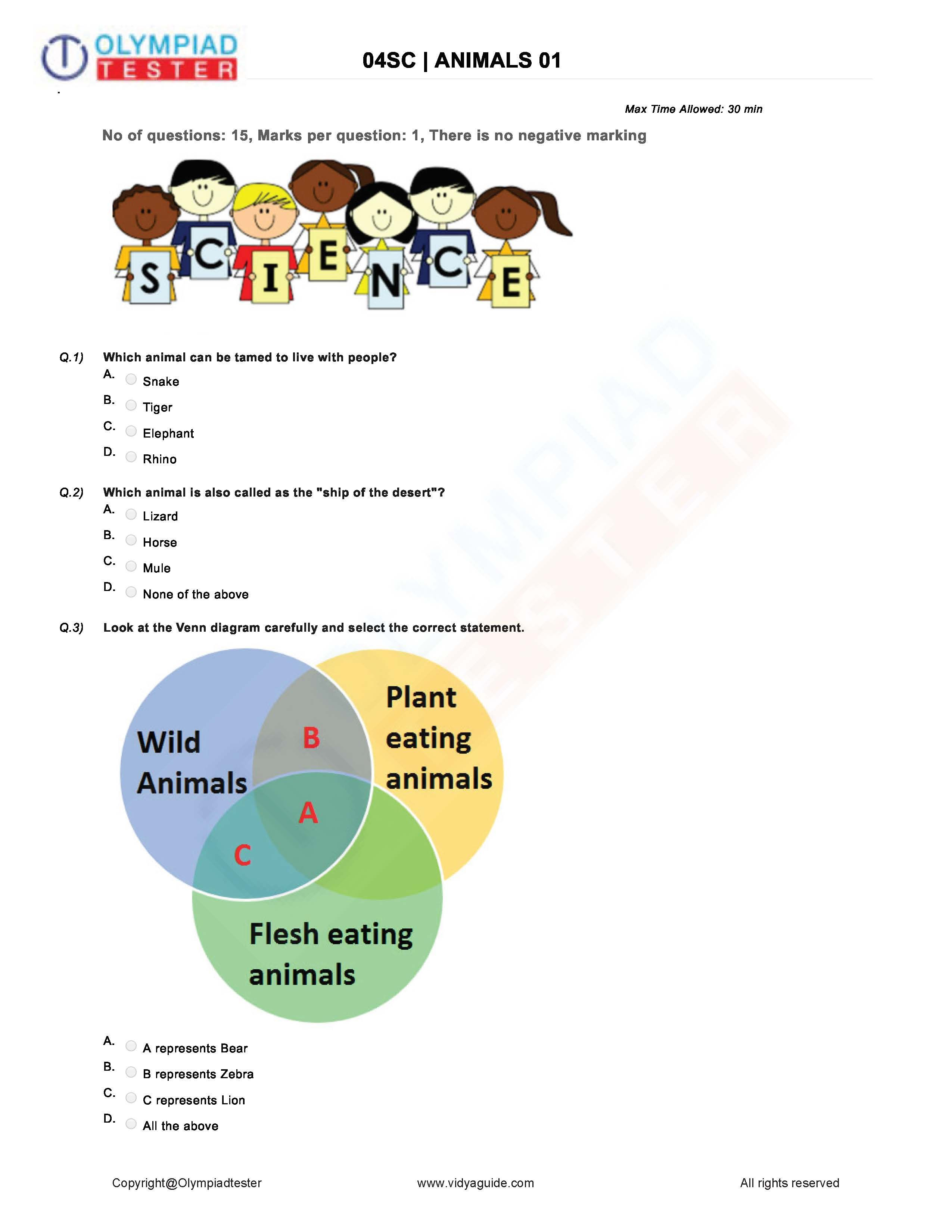 You Can Download This Grade 4 Science Worksheet Mcq Of