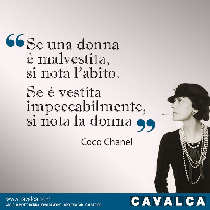 #Cavalca #moda #quotes #CocoChanel