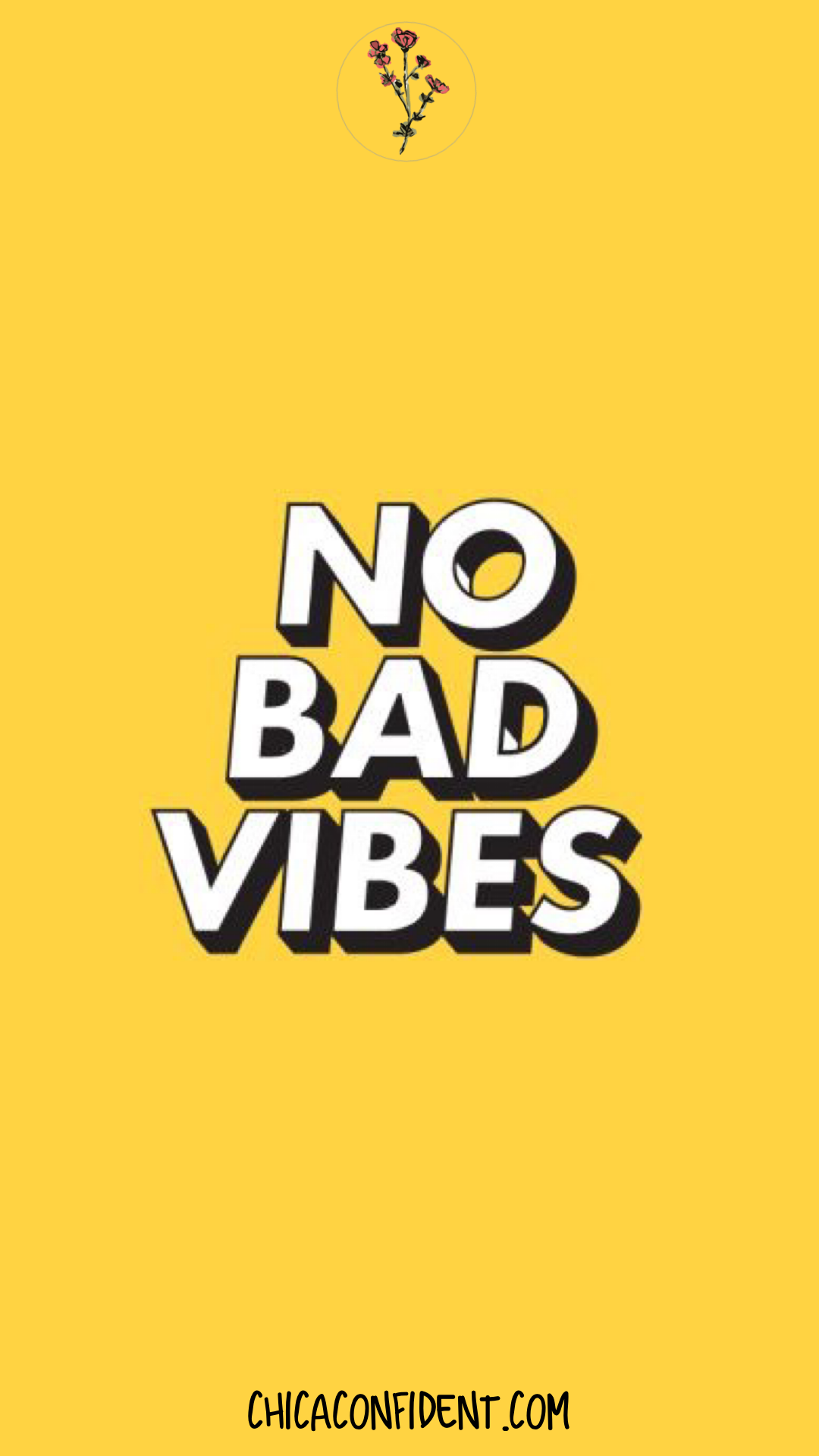 Yellow Good Vibes Background