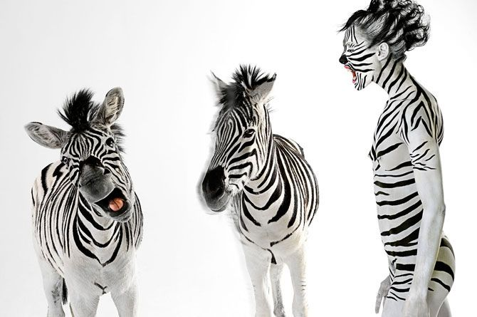 animalistic body art by Lennette Newell
