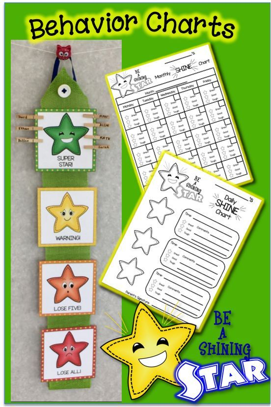 Kindergarten Behavior Calendar : Shining star behavior charts calendars rewards