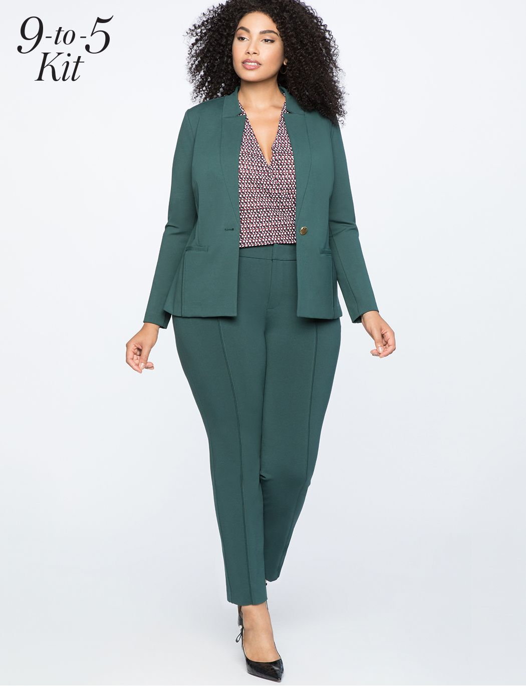 0bb1ce2d8f8aa 9-to-5 Stretch Work Blazer in 2019   Cloth   Plus size suits, Plus ...
