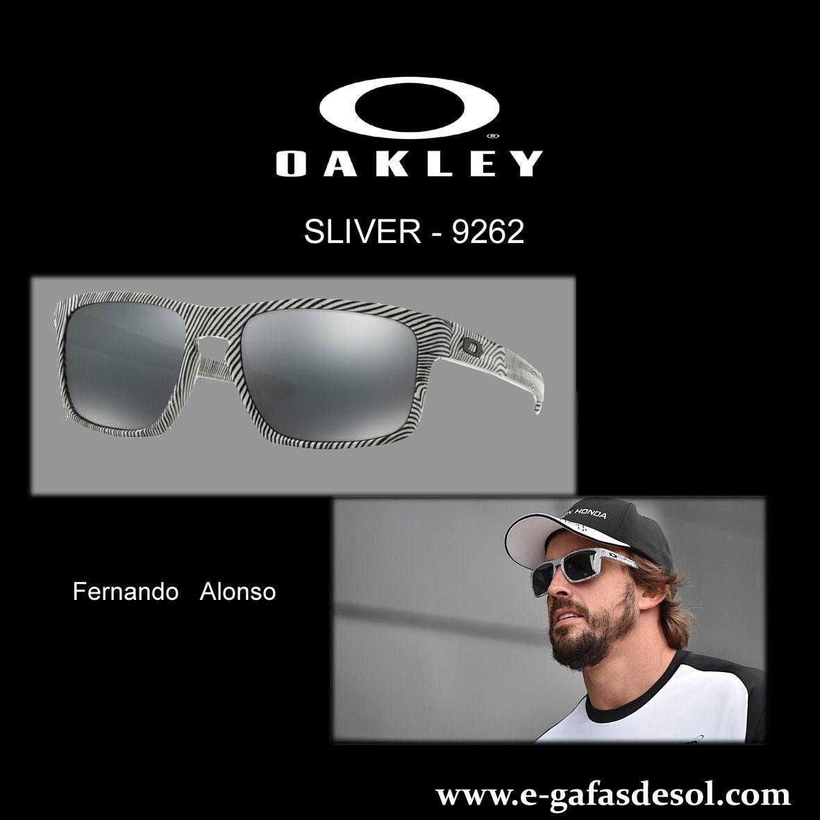9fffb6b42f Fernando Alonso luciendo unas gafas de sol OAKLEY Sliver 9262 en uno de los  últimos colores