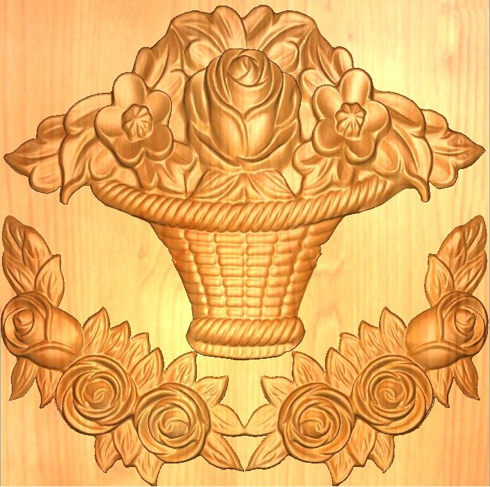 Wood Carving Designs Flowers Images