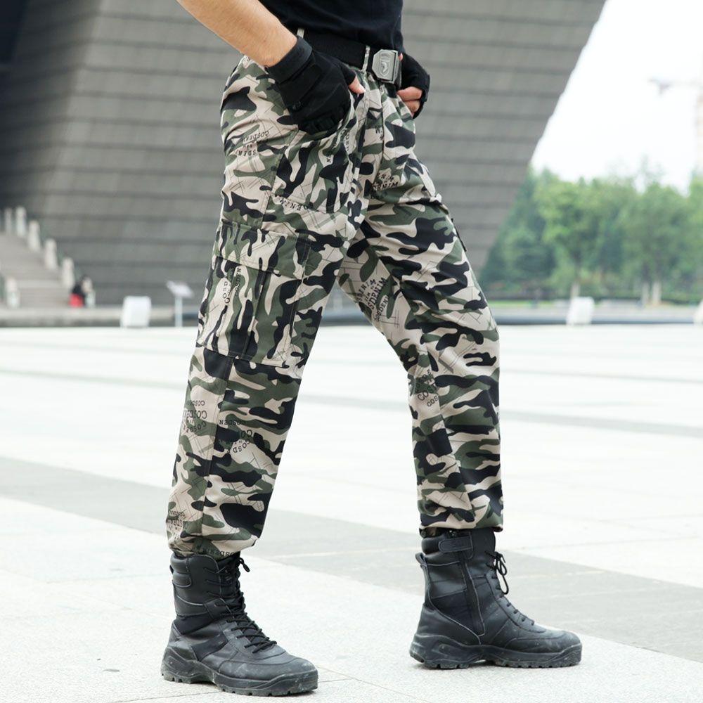 EMAOR Mens Camo Cargo Work Pants