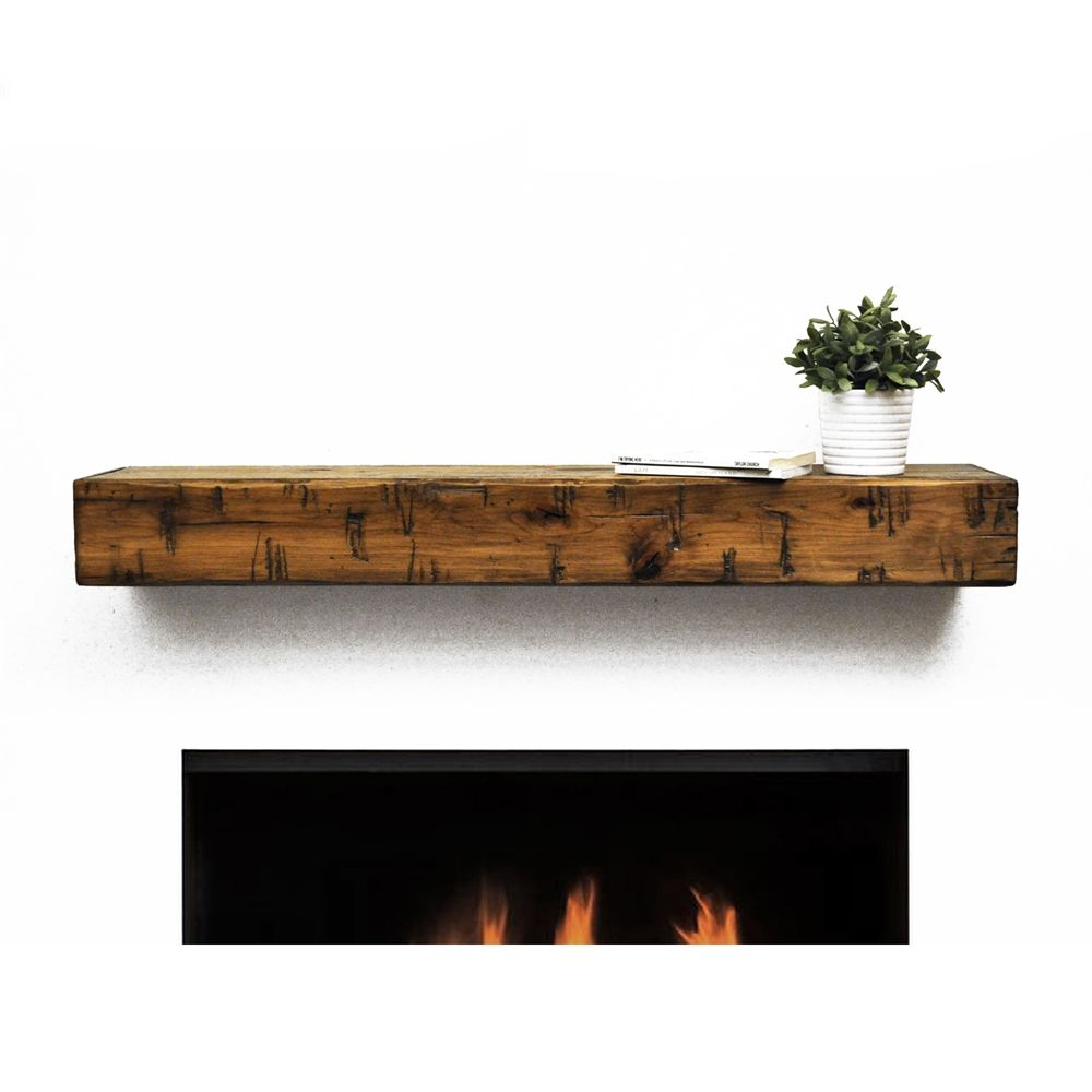 Shop Dogberry Collections M Rust Rustic Mantel Shelf At Atg Stores Browse Our Fireplace