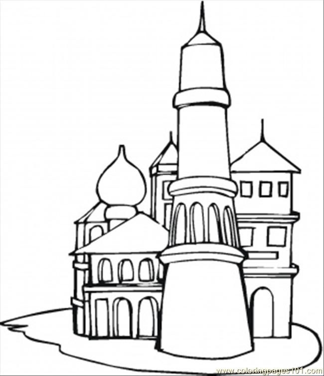 Coloring Pages The Kremlin Countries Gt Russia Free
