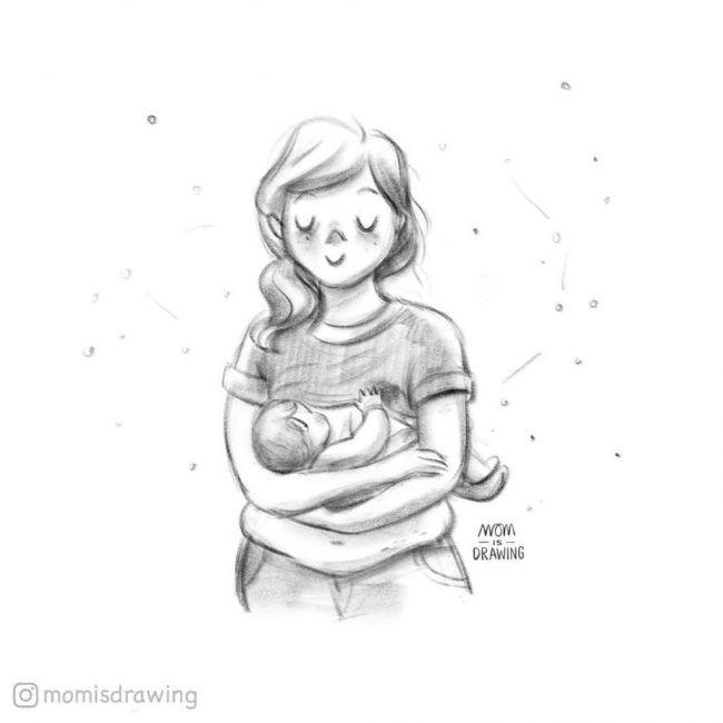 Las Aventuras De Amamantar Reflejadas En 15 Preciosas Ilustraciones Lactancia Materna Ilustraciones Lactancia Lactancia