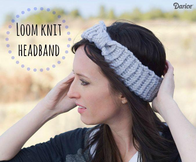 Loom Knit Headband - Free Loom Knit Pattern - Darice | Pinterest