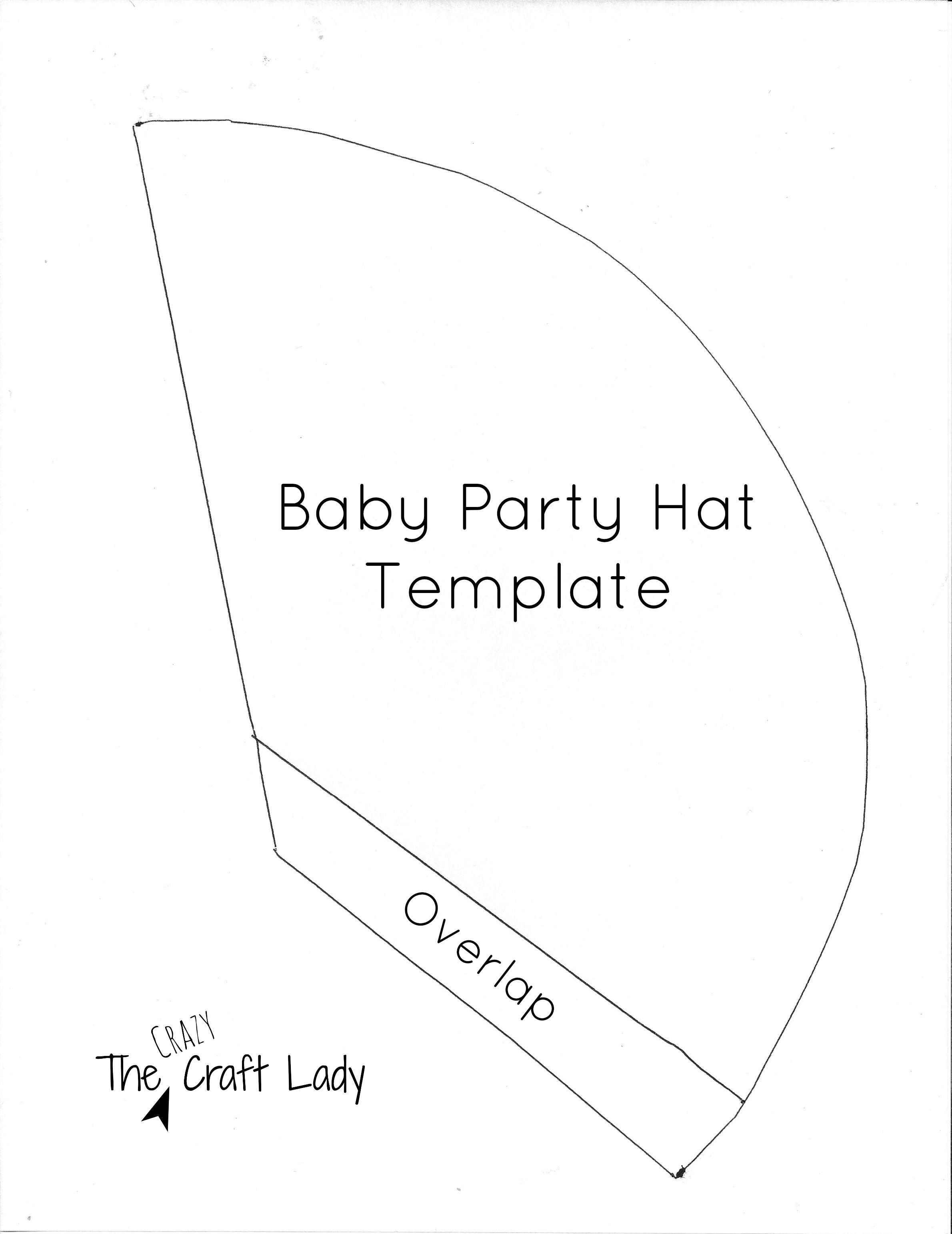 Diy Mini Party Hats  Free Printable  Faith Shaw Mini Hat