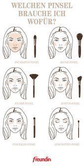 ¿Qué brocha de maquillaje necesito para qué? El | freundin.de Diferentes tamaños, dife …