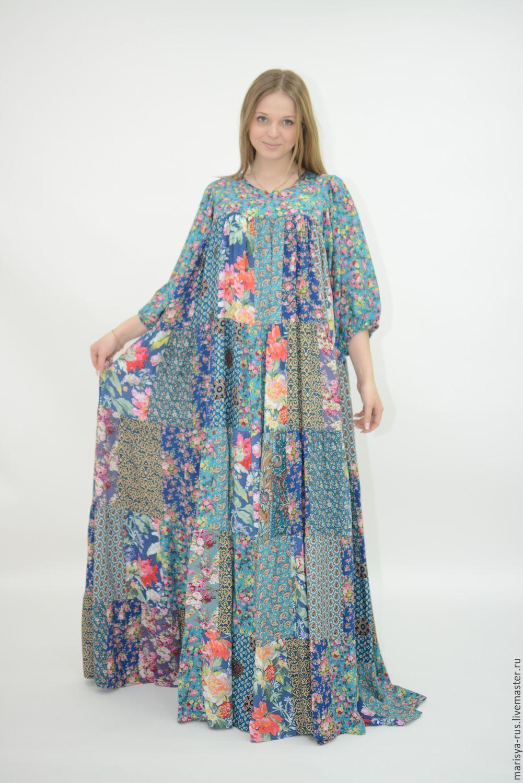 f9a9151ec2c Купить или заказать Лоскутное платье  Ясная поляна-3  в интернет-магазине на