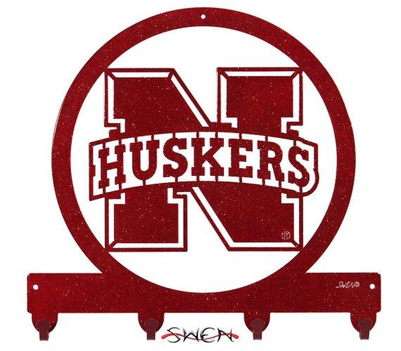 Nebraska Huskers Cornhuskers Go Big Red Metal Key Chain Holder Etsy Nebraska Huskers Nebraska Husker