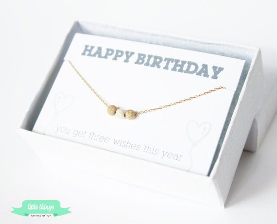 Birthday Card  MAKE A WISH Necklace  Delicate by LittleThingsByTCY, $26.00
