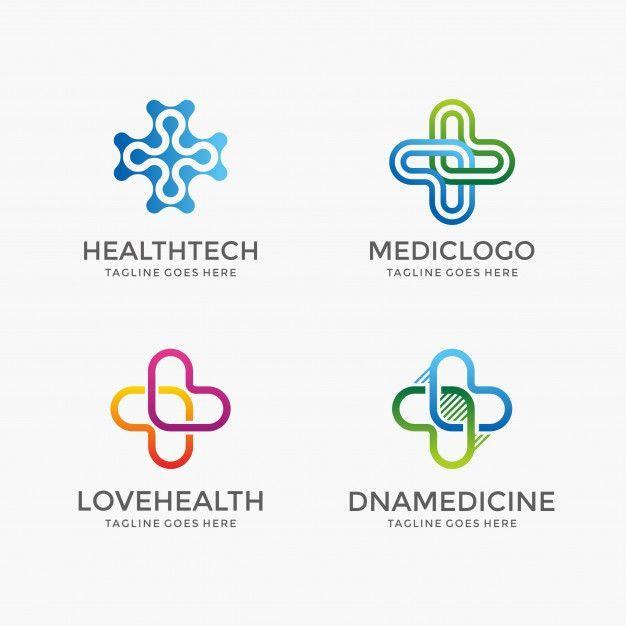Abstract Health pharmacy medicine logo design template