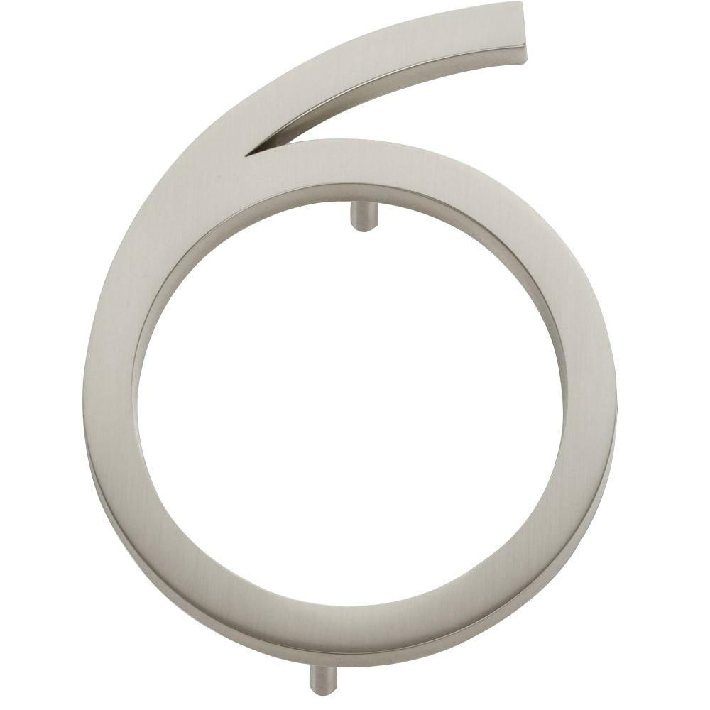 Modern Avalon Collection 45 in Brushed Nickel Number 6 Home