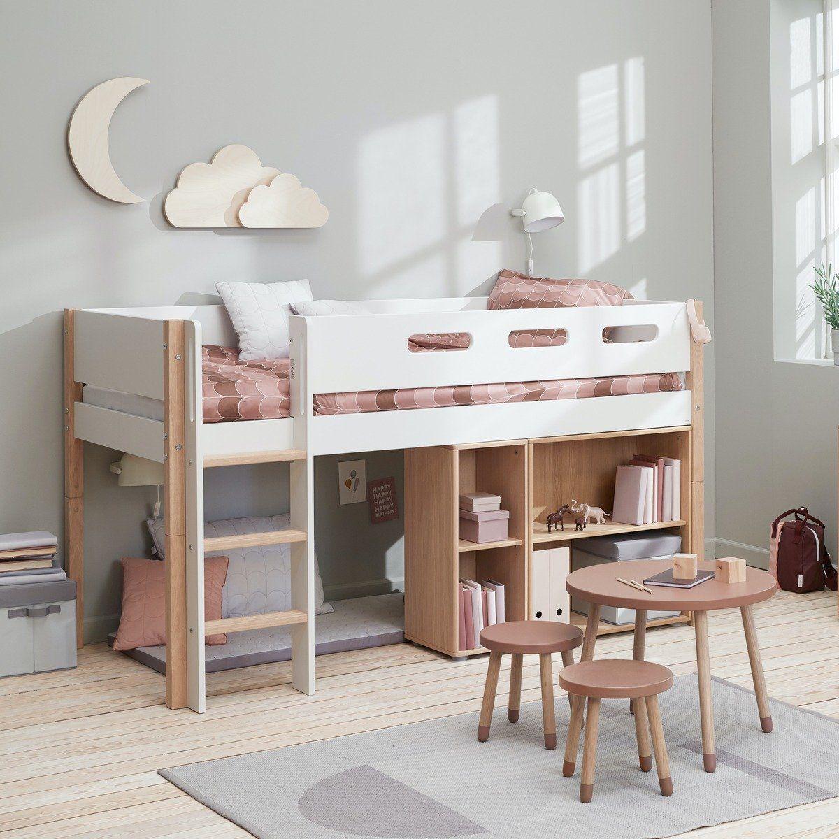 Flexa Nor Halbhohes Bett Mit Senkrechter Leiter Kidswoodlove In 2020 Bett Kinderzimmer Halbhohes Kinderbett Kinderzimmer Weiss