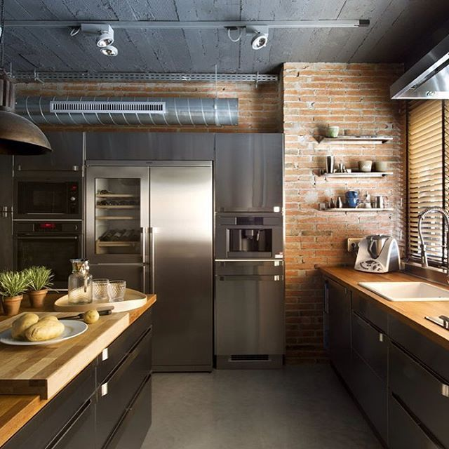 Whatu0027s Not To Love About This #fabulous #industrial Style #kitchen?! #