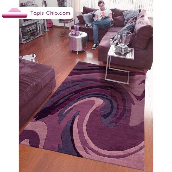 Tapis Action Painting Violet Par Arte Espina