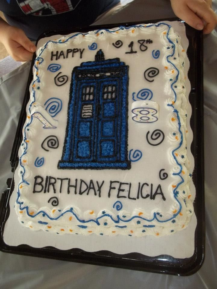 Dr Who cake made by Sandy Lesley The Yellow Fork Pinterest
