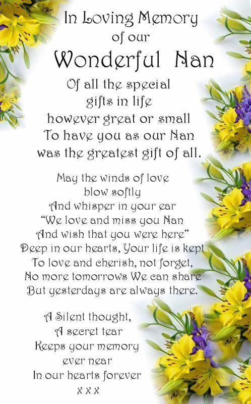 R.I.P Nan In Loving Memory #RIP #grief   Nana   Grief ...