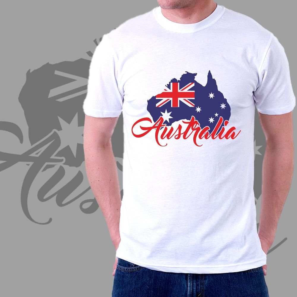 Shirt design australia - Australia Map Flag T Shirt Design Man Woman Sizes S