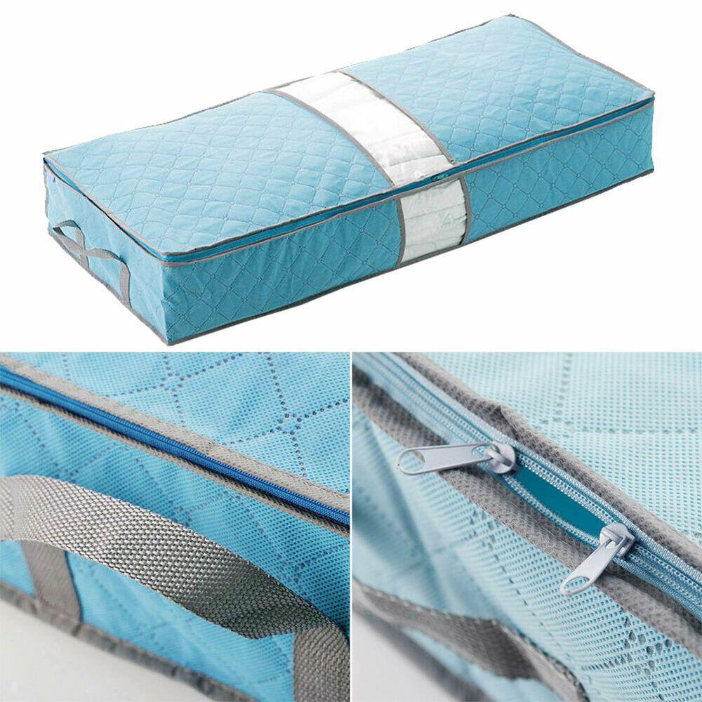 Details About Under Bed Storage Organizer Zipper Pouch Bag For