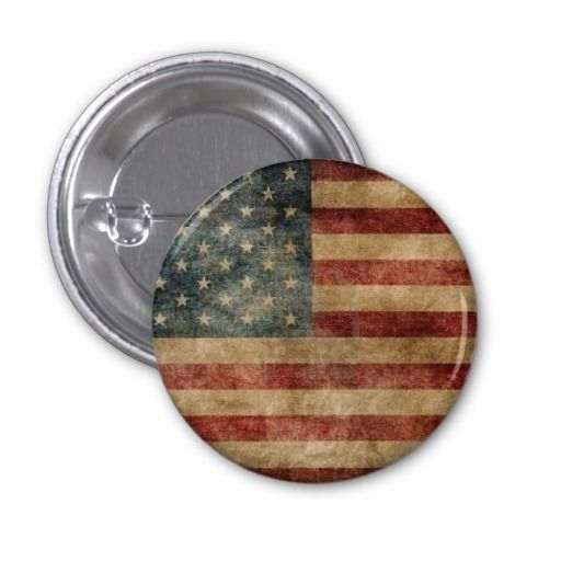 Round and brown american flag