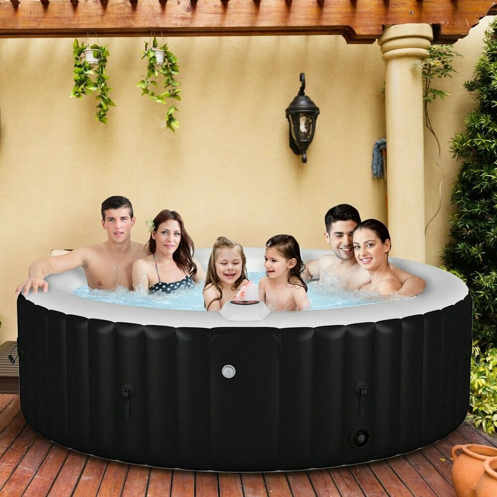 New 6 Person Massage Spa Portable Hot Tub Inflatable Outdoor Bubble Jets Patio Spa Hottub Massage Portable Hot Tub Spa Hot Tubs Jacuzzi Hot Tub