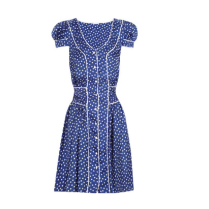 Steal Kate Middleton's post baby knee length polka dot capped sleeve dress look for less right now.