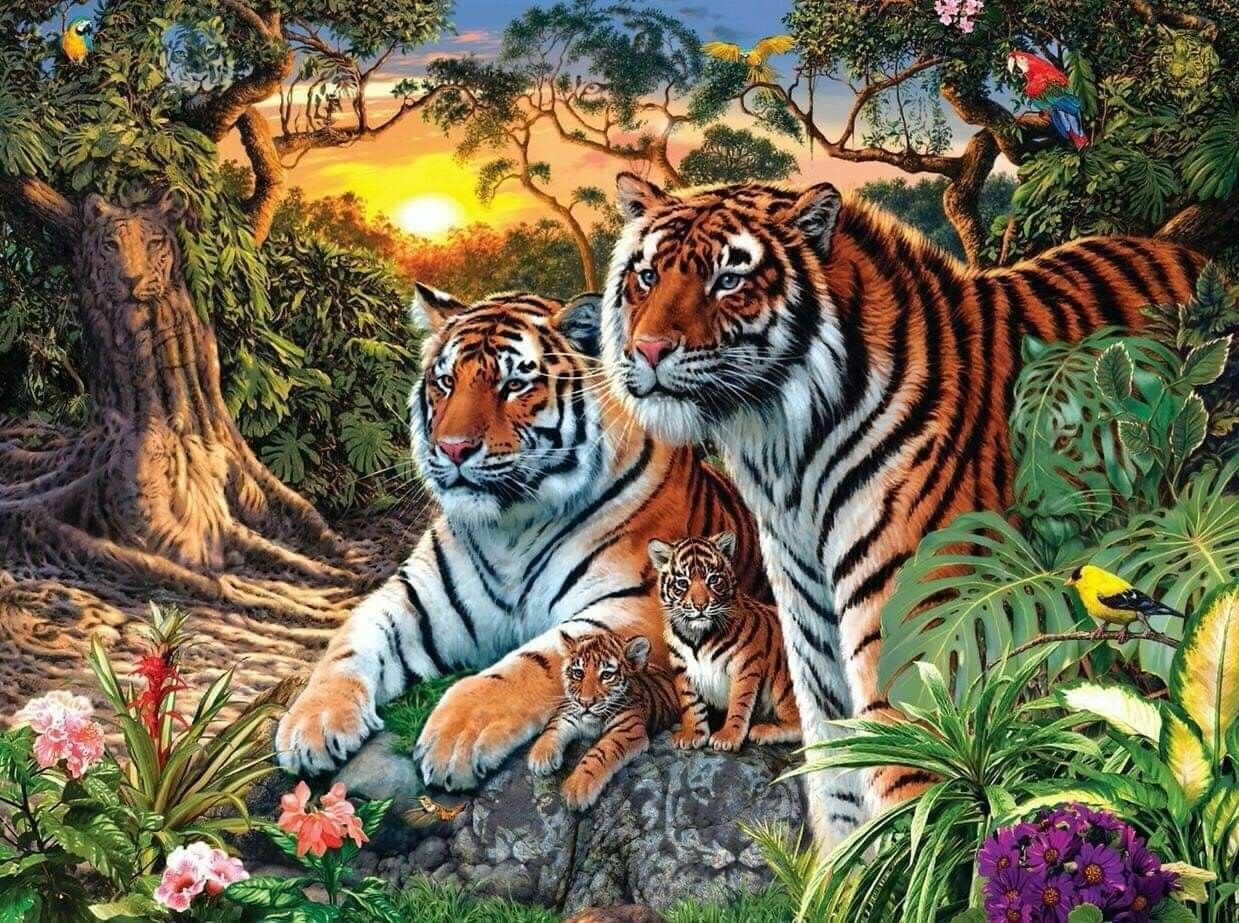 Pin By Arzoo Shaikh On Projects To Try Tiger Pictures Hidden Images Diamond Painting