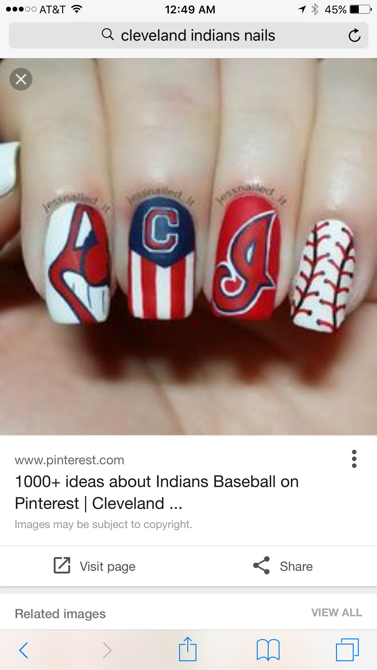 Pin by Molly Radtka on Nails 2 Cleveland indians nails
