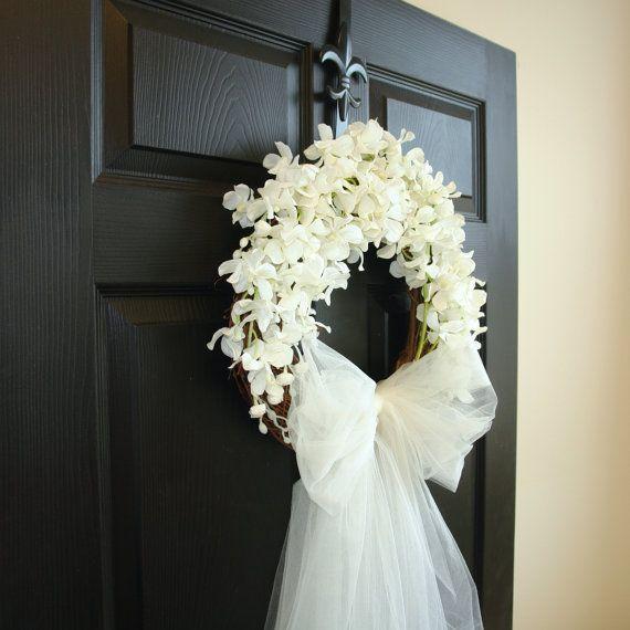 Photo of decorazioni per la doccia da sposa corone di nozze ghirlande porta d'ingresso decorazioni per la doccia da sposa all'aperto decorazioni per matrimoni francesi in avorio bianco