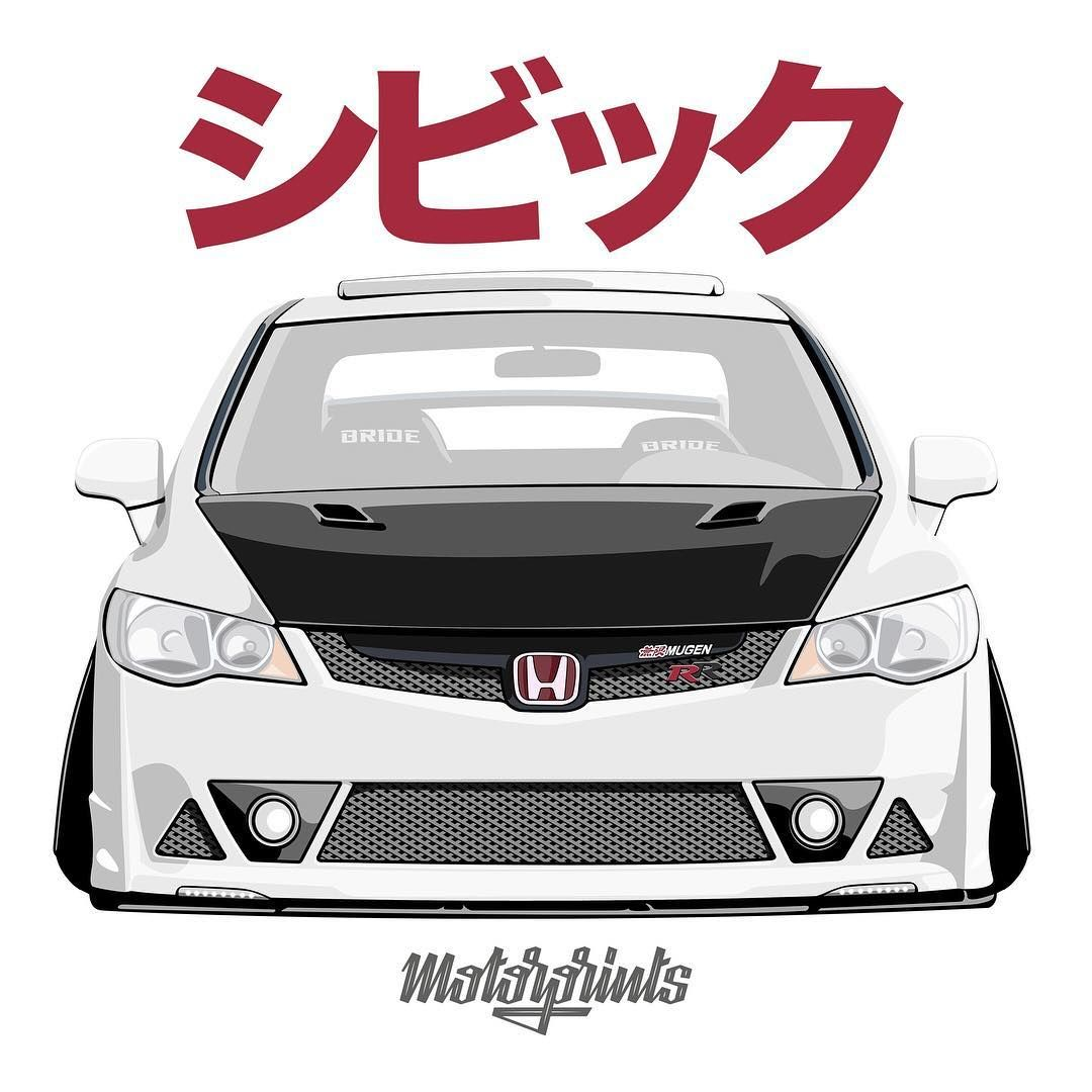 Motorprints On Instagram New Release Civic Fd2 Rr Paintings To Order T Shirts Covers Stickers Posters Already Ava Mobil Modifikasi Mobil Mobil Balap