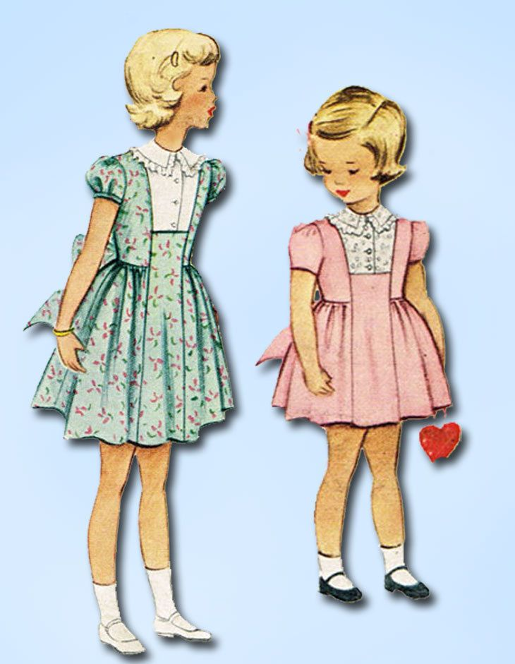 1950s Vintage McCall Sewing Pattern 8161 Toddler Girls Party Dress ...