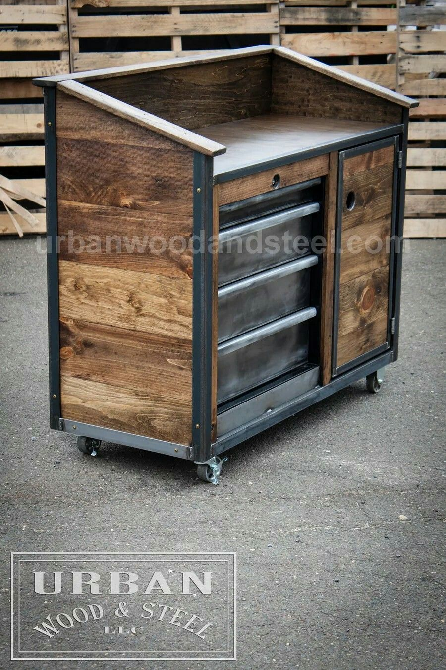 reclaimed wood steel cupboard product rarem teak stainless tv stand furniture and