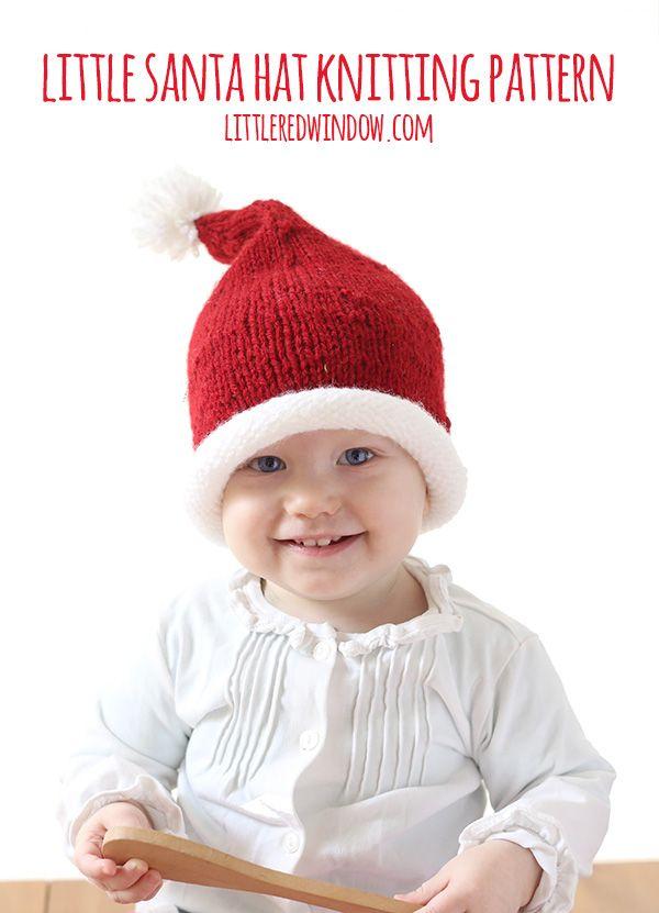 Little Santa Hat Knitting Pattern | Stricken und häkeln, Stricken ...