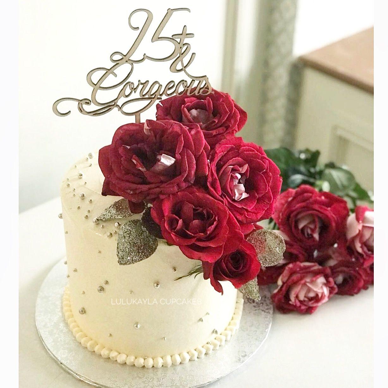 Red Rose Flower Cake Flower Cake Cake Buttercream Cake