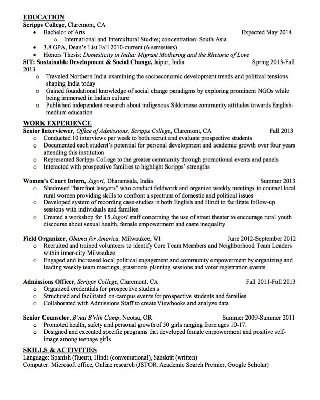 Sample Admissions Officer Resume  HttpExampleresumecvOrg