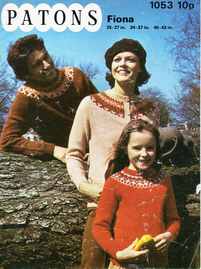 ladies mens childrens fair isle sweater & cardigan knitting ...