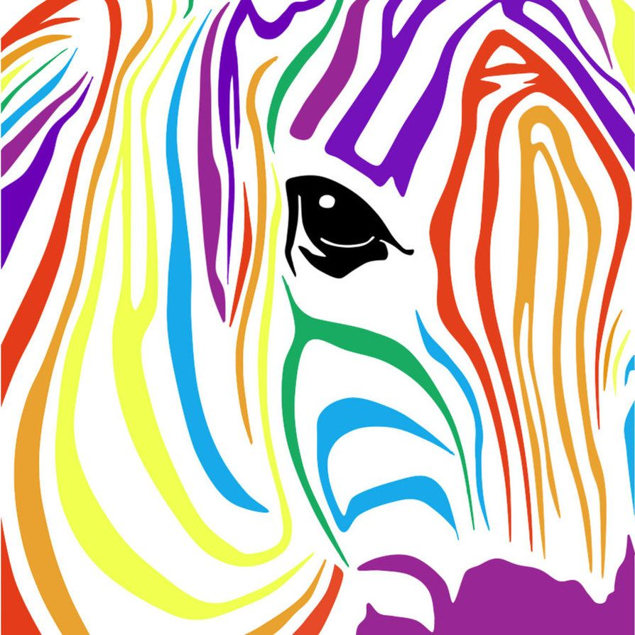Wallpapers For Rainbow Zebra Background Designs