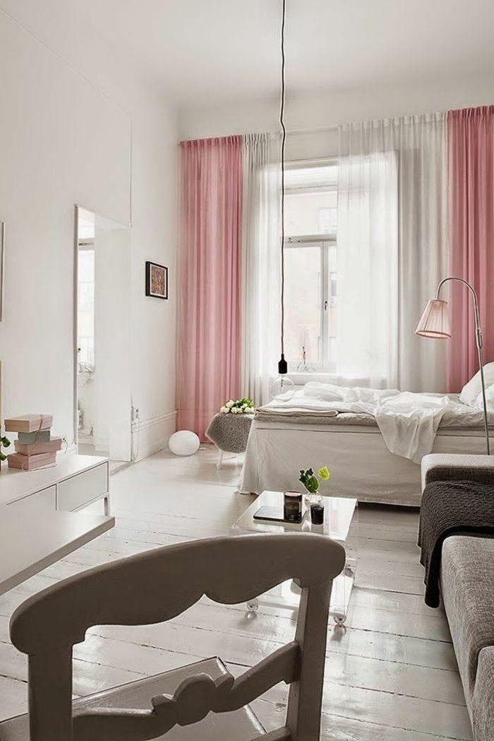kleines schlafzimmer einrichten - 55 stilvolle wohnideen ... - Wohnideen Vorhnge Im Schlafzimmer